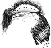 man's hair piece